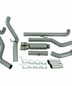 """2001-2007 Chev/GMC 2500/3500  Duramax, EC/CC 4"""" Down Pipe Back, Cool Duals Off-Road (includes front pipe), AL  Stocking item"""