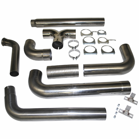 """2003-2007 Ford F-250/350 (6.0L) 5"""" Turbo Back, Dual SMOKERS T409  Web Special item"""