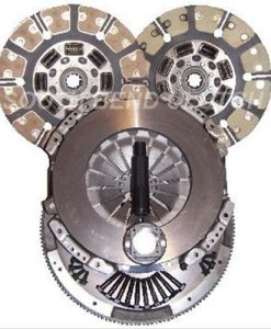 Ford F-250/F-350 08-09 Diesel 6.4 Powerstrokeual Friction Clutch  12 Kevlar Buttons and 12 Ceramic buttons  Includes Flywheel
