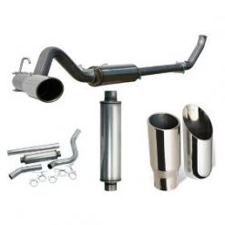 00-05 Ford Excursion 6.0L Power Stroke (Retains Cat) 409 Ss 4 Inch Aluminized Large Bore Exhaust System Hd