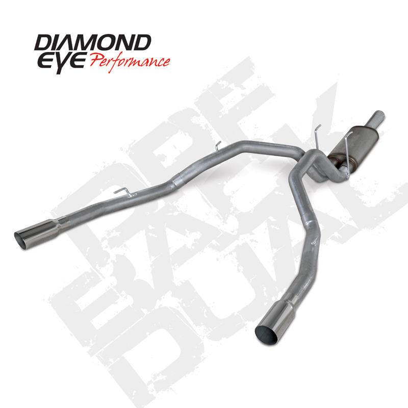 """KIT, 3"""", CAT-BACK, REAR EXIT DUAL 409 STAINLESS STEEL: 2014 DODGE 3.0L ECO-DIESEL 1500"""