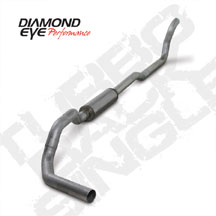 "KIT, 4"", TURBO-BACK, MUFFLER REPLACEMENT PIPE, SINGLE, 2X4 ONLY; 409 STAINLESS STEEL: 1989-1993 DODGE 5.9L CUMMINS 2500/3500"