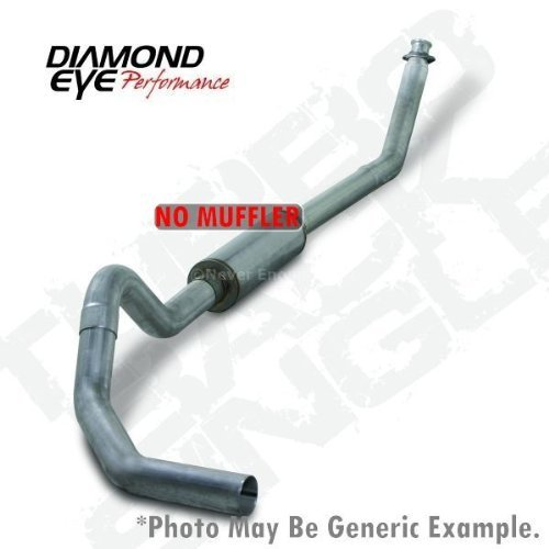 "KIT, 4"", TURBO-BACK, MUFFLER REPLACEMENT PIPE, SINGLE, 4X4 ONLY; 409 STAINLESS STEEL: 1989-1993 DODGE 5.9L CUMMINS 2500/3500"