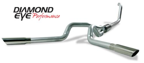 """03-06 Ford 6.0L F250 &F350  4X4 Only  Turbo Back Dual  Aluminized Steel Kit  4 In. With 3.5"""" Downpipe"""