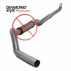 2001-05 Chevy/Gm 6.6L 2500/3500  Off Road Single(Including Front Pipe*)  Aluminized Kit  All Cab & Bed Length  5 In. Muffler Delete
