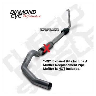 """KIT  5""""  TURBO-BACK  MUFFLER REPLACEMENT PIPE  SINGLE; 409 STAINLESS STEEL: 1994-1997.5 FORD 7.3L  POWERSTROKE F250/F350"""