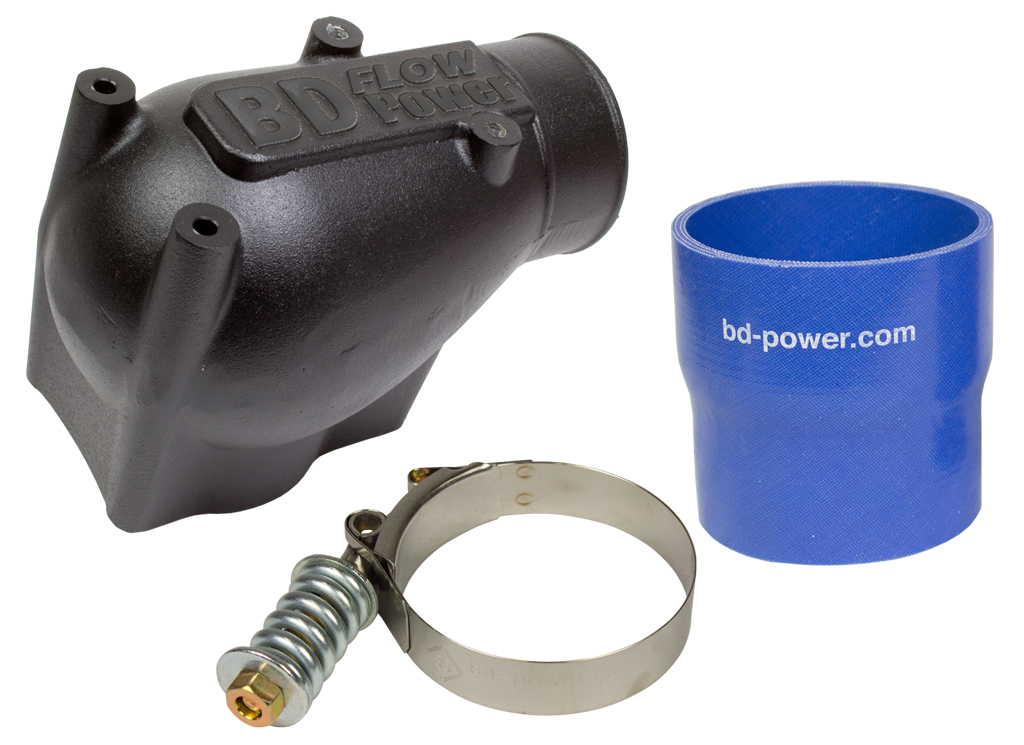 X-Flow Power Intake Elbow (Black) - Ford 03-04 6.0L