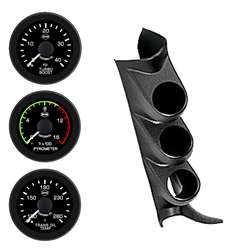 PERFORMAX 08-09 CHEVY PILLAR KIT (PYRO-BOOST-TRANS TEMP W/ O SPKR) BLK FACE WHT PTR BLK BZL