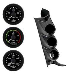 PERFORMAX 08-09 CHEVY PILLAR KIT (PYRO-BOOST-TRANS TEMP W/  SPKR) BLK FACE WHT PTR BLK BZL