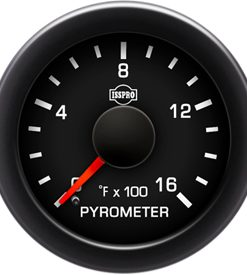 PERFORMAX Pyrometer No-Color 0-1600 F Red Pointer  BLACK Face  WHITE NUMBERS