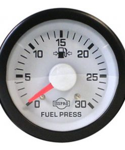 Mech Fuel Press Gauge 0-30 Psi Wht Face Red Ptr