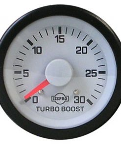 Evm Gauge Mech Turbo Boost 30 Psi Chr Wht Face Red Ptr