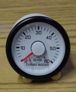 Evm Gauge Mech Turbo Boost 60 Psi Chr Wht Face Red Ptr