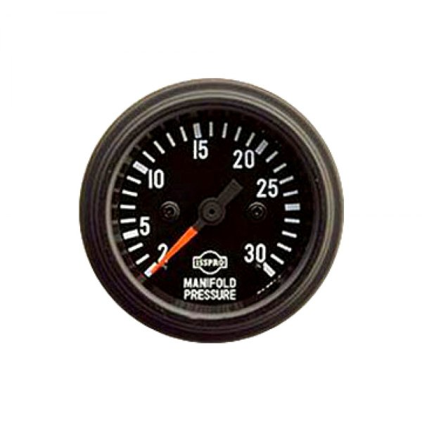 Gauge Mech Manfld30# Blk Red Ptr